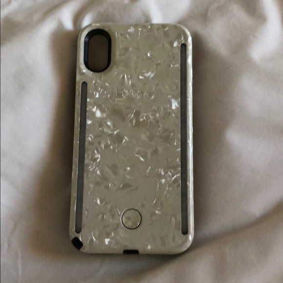 new style 3d10c 10a54 LUMEE PEARL WHITE LIGHT CASE IPHONE X